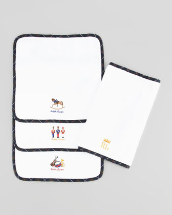 Ralph Lauren Boys' Tartan Washcloth Set, Forest Green