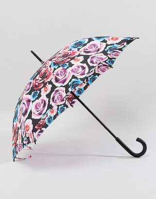 Fulton Kensington 2 Colour Pop Rose Umbrella