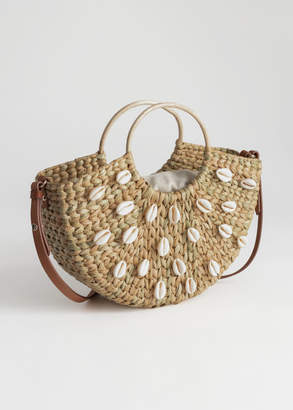And other stories Woven Puka Shell Tote Bag