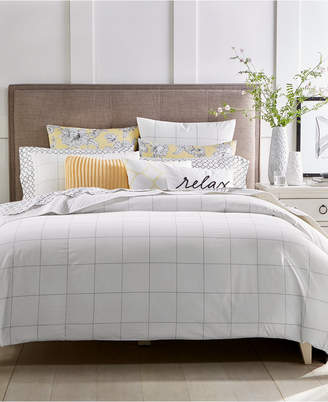 Charter Club Closeout! Damask Designs Windowpane 2-Pc. Twin Duvet Cover Set, Created for Macy's Bedding