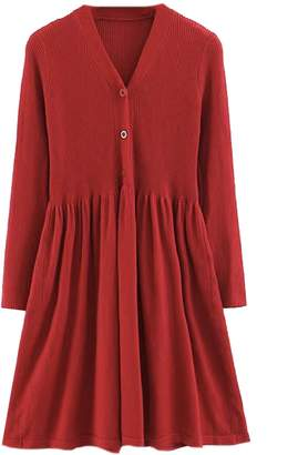 Goodnight Macaroon 'Mandy' Button Down Dolly Ribbed Knit Dress (3 Colors)