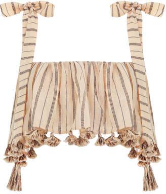 Zimmermann Suraya Bronze Stripe Tie Top