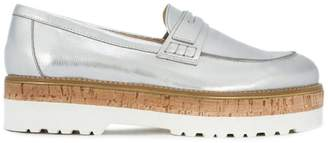 Hogan metallic loafers