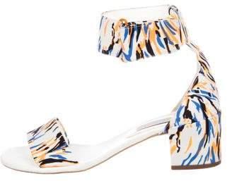 Stella McCartney Printed Ankle-Strap Sandals
