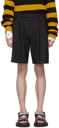 Gucci Black Herringbone Shorts