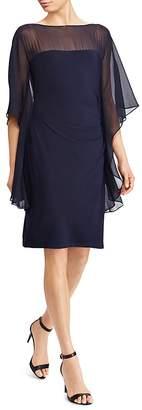 Lauren Ralph Lauren Illusion Flutter-Sleeve Dress