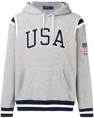 Polo Ralph Lauren USA printed hoodie