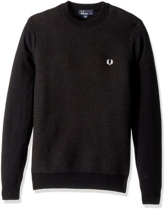 Fred Perry Men's Textured Crew Neck Jumper