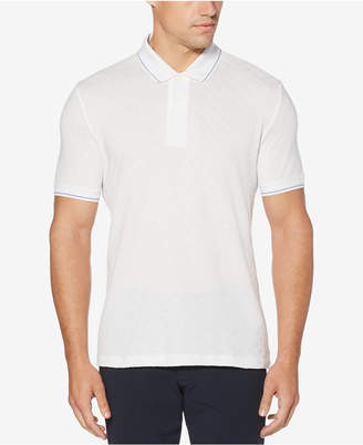 Perry Ellis Men Jacquard Diamond Polo