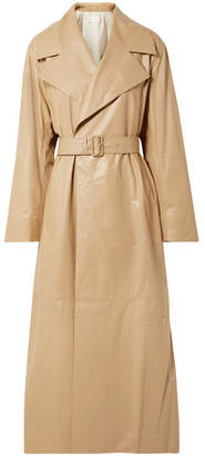 The Row Moora Leather Trench Coat - Tan