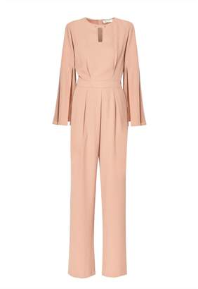 Paisie Jumpsuit With Cape Sleeves In Sand