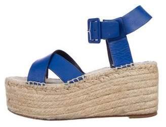 Celine Leather Flatform Espadrilles