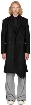 D.gnak By Kang.d Black Side Folded Coat