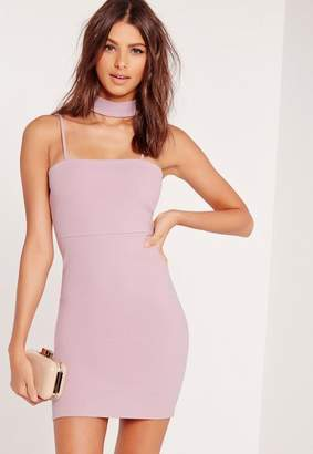 Missguided Choker Neck Bodycon Dress Mauve