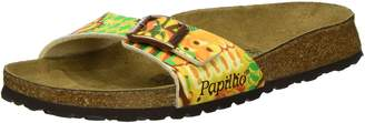 Papillio Womens by Birkenstock Madrid African Wax Gold Synthetic Sandals 37 EU