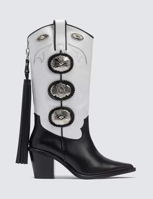 Toga Pulla Western Harness Leather Long Boots