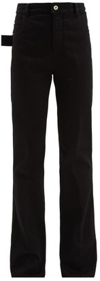 Bottega Veneta High Rise Flared Jeans - Womens - Black