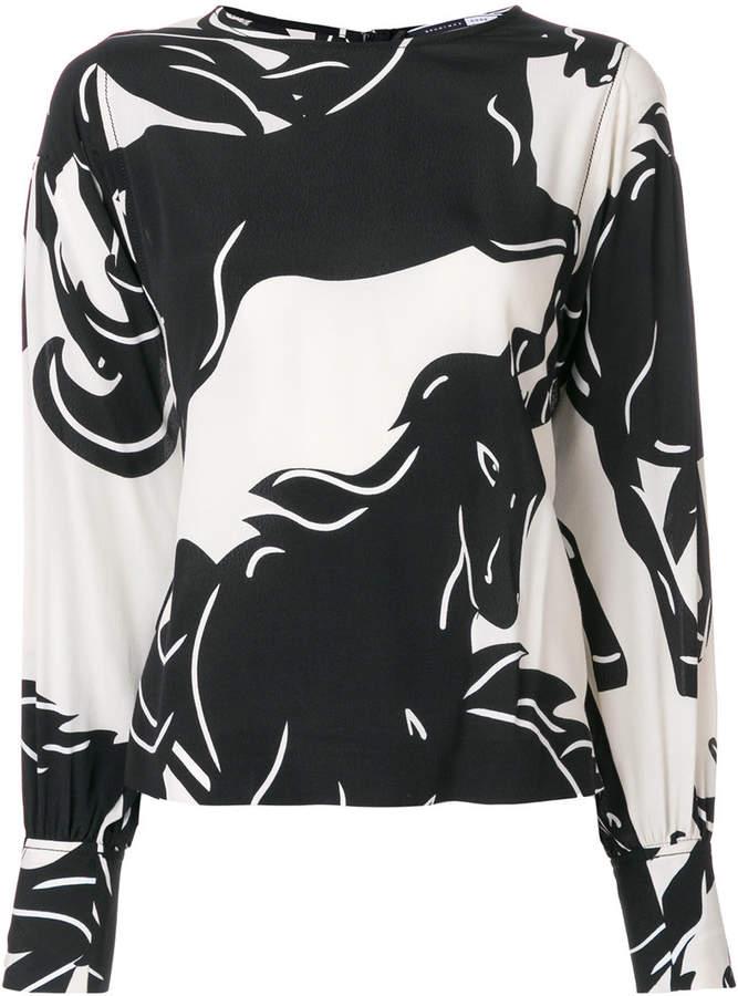 Sport Max Code Curacao horse print blouse