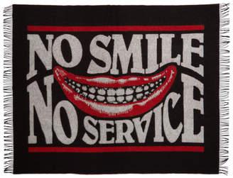 Stella McCartney Black and Red No Smile Blanket Scarf