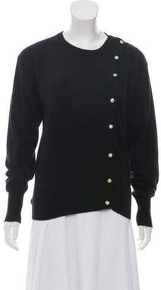 Chanel Cashmere Button-Up Sweater Black Cashmere Button-Up Sweater