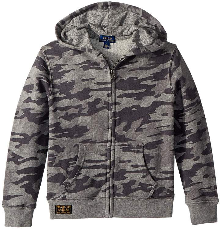 Camo Print Cotton Hoodie Boy's Sweatshirt