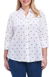 Foxcroft Mary Dot Print Shirt
