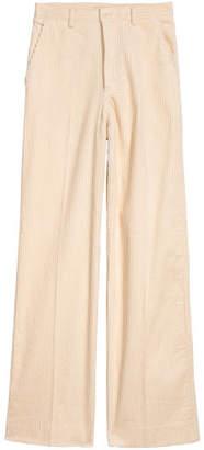 H&M Wide-leg Corduroy Pants - White