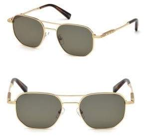 Ermenegildo Zegna Men's Metal Sunglasses - Gold