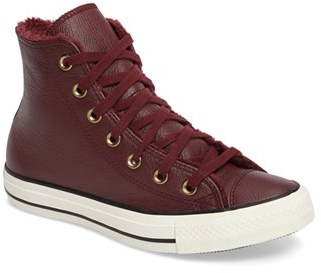 Women's Converse Chuck Taylor All Star Faux Fur High Top Sneaker $74.95 thestylecure.com