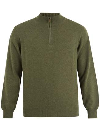 THOM SWEENEY Zip-up high-neck cashmere sweater