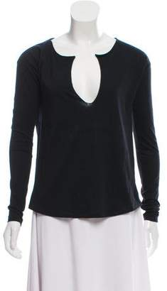 Rag & Bone V-Neck Long Sleeve T-Shirt