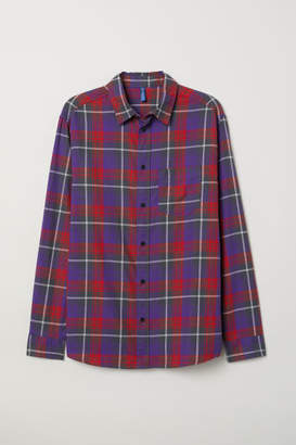 H&M Plaid Cotton Flannel Shirt - Purple