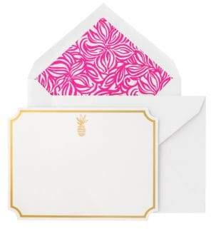 Lilly Pulitzer Swirling Floral Correspondence Cards/Set of 10