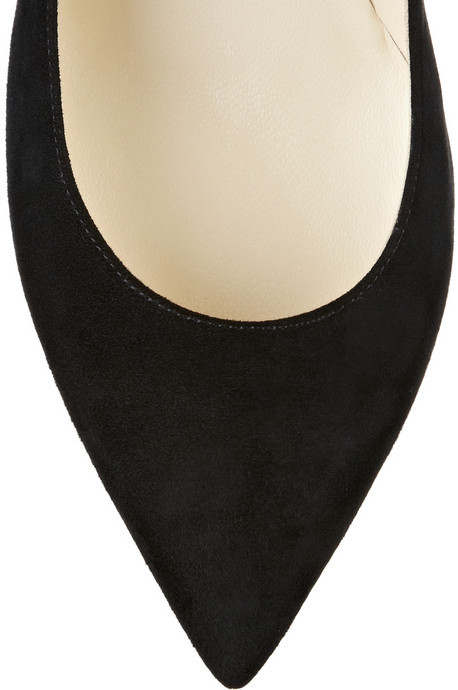 Brian Atwood Sybil embellished suede pumps
