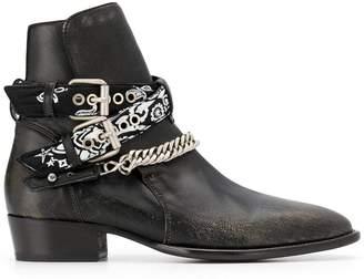 Amiri Vintage bandana buckle boots