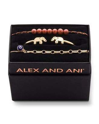 Alex and Ani Elephant Cuff Bracelet Gift Set, Gold