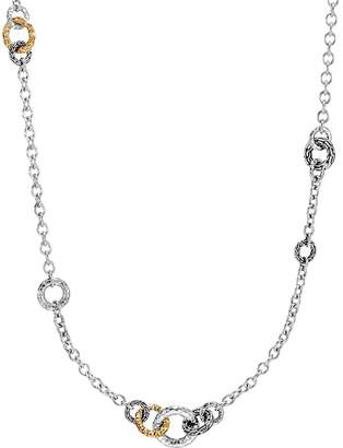 """John Hardy 18K Yellow Gold and Sterling Silver Classic Chain Hammered Link Sautoir Necklace, 36"""""""