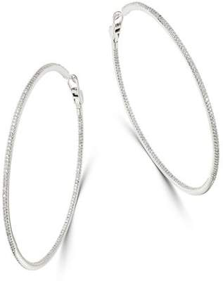 Bloomingdale's Diamond Oversized Inside-Out Hoop Earrings in 14K White Gold, 2.0 ct. t.w. - 100% Exclusive