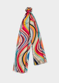 Paul Smith Women's 'Swirl' Double-Sided Silk Scarf