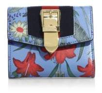 Gucci Sylvie Floral-Print Leather Wallet