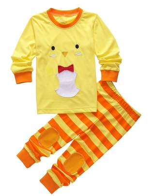 Magical Baby Kids Boys Girls Long Sleeve Animal Printing Shirt and Pants Pajamas Set (7T, )