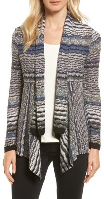 Women's Nic+Zoe Shaded Stripe Drape Front Cardigan $148 thestylecure.com