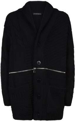 Alexander McQueen Patchwork Zipped Cardigan