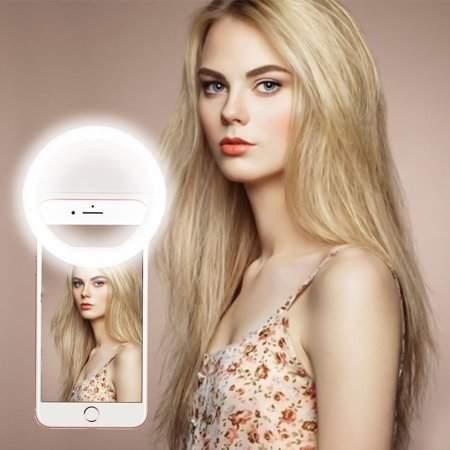 Turdy RK-14 Portable Size Mobile Phone Selfie Ring Light LED Camera Flash Ring Light