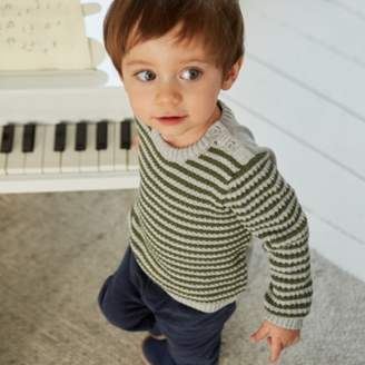 The White Company Textured Stripe Jumper