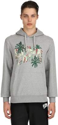 Billionaire Boys Club Bbc Hooded Palm Logo Cotton Sweatshirt