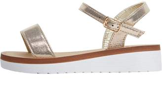 Board Angels Girls Strappy Glitter Sandals Gold