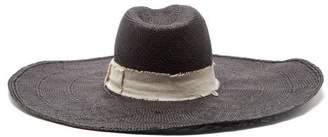 Lafayette House Of Brandi Wide Brim Straw Hat - Womens - Black