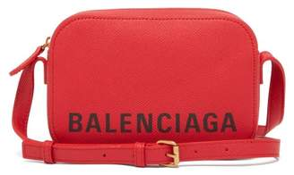 Balenciaga Ville Xs Leather Cross Body Bag - Womens - Red