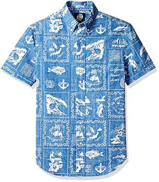 Reyn Spooner Men's Stories from The East Weekend Wash Tailored Hawaiian Shirt